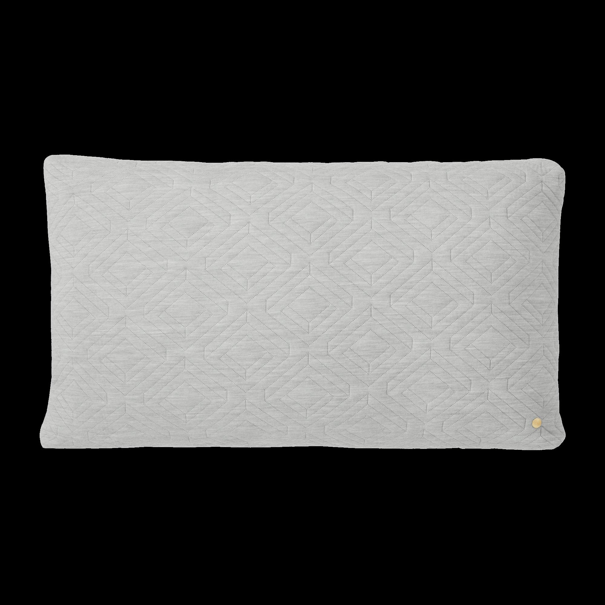 Quilt cushion - light grey