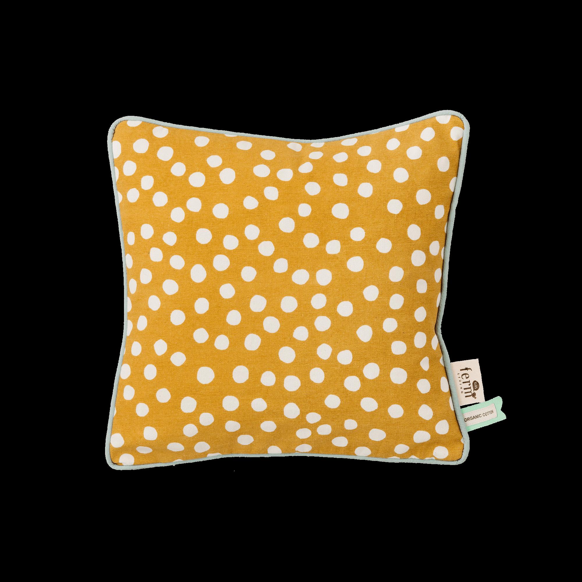 Dots cushion - curry